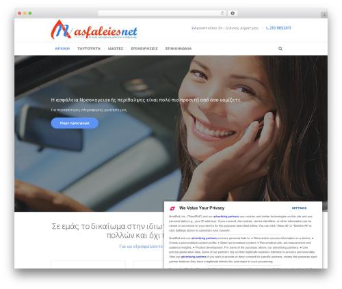 Insurance-Ancora WordPress template - asfaleiesnet.com