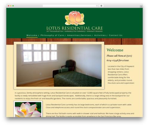 Minus WP theme - lotusresidentialcare.com