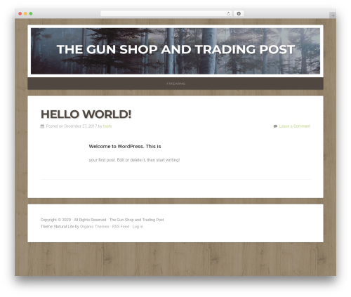 Natural Lite WordPress ecommerce template - pawnlivingston.com