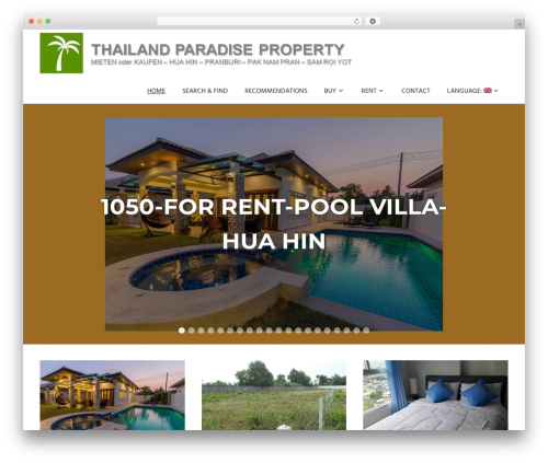 Palm Beach WordPress template free - thailand-paradise-property.com