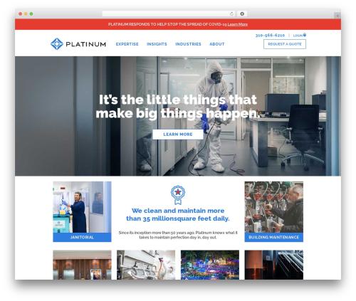 Platinum WordPress theme - platinumcleaning.com