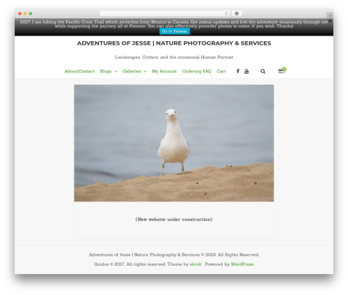 Quidus garden WordPress theme - adventuresofjesse.com