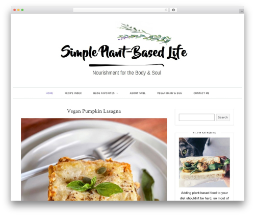 Sprout & Spoon WordPress theme - simpleplantbasedlife.com