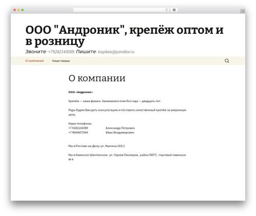 Twenty Thirteen best free WordPress theme - 61metiz.ru