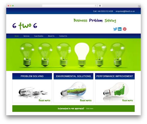 Twenty Thirteen free website theme - 6two6.co.uk