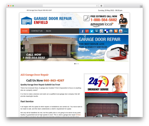 Twenty Thirteen WordPress theme - aeigaragerepair.com