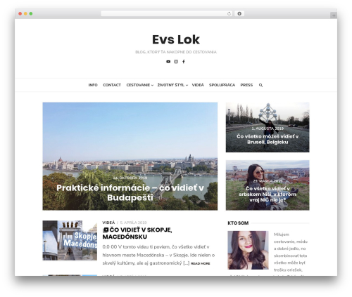 Type Plus WordPress blog template - evslok.com