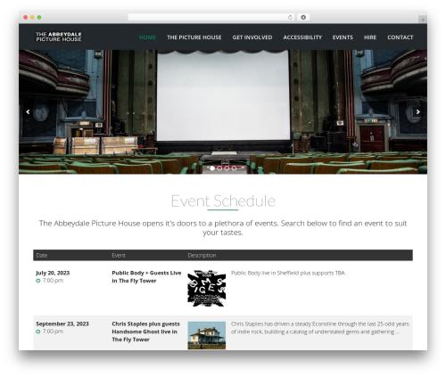 VenueX top WordPress theme - theabbeydalepicturehouse.com