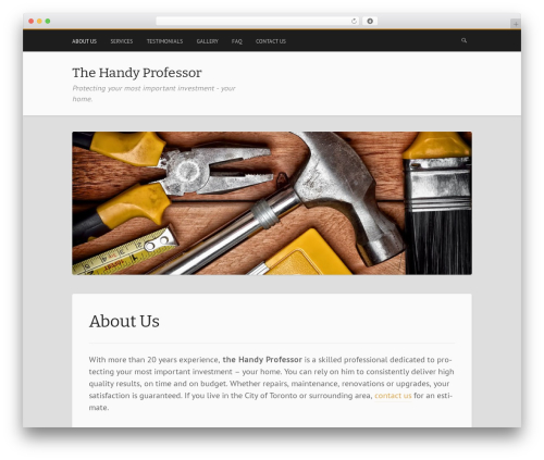 WordPress template Mixr - thehandyprofessor.com