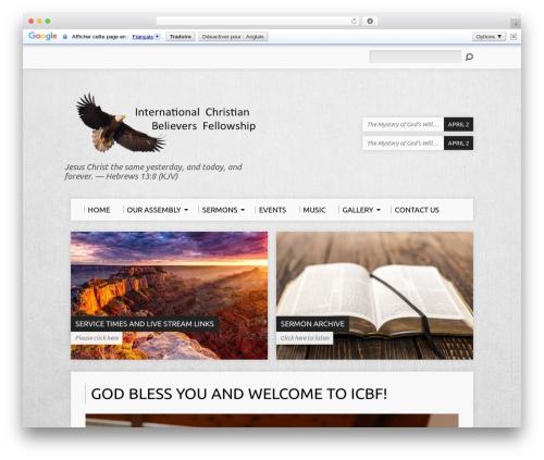 WordPress events-planner-pro plugin - icbfchurch.com