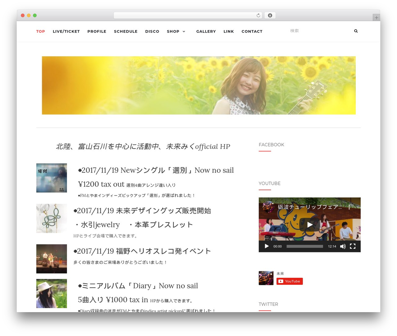 WordPress theme Activello - miku39guitar.com
