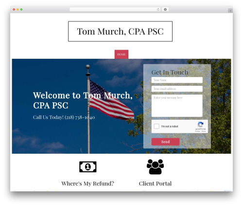 WordPress theme Customized3 - murchcpa.com