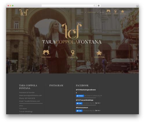 WordPress theme Hudson - taracoppolafontana.com