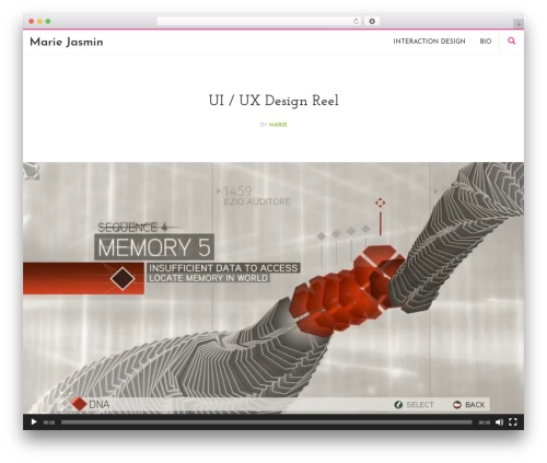 WordPress theme Longform - mariejasmin.com