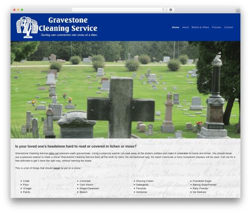 WP Bootstrap Starter WordPress website template - cemeterysavers.com