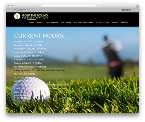 X WP theme - golftheround.com