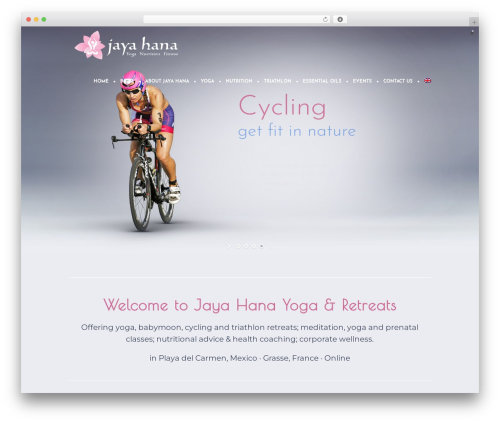 Yoga Fit WordPress website template - jayahana.com