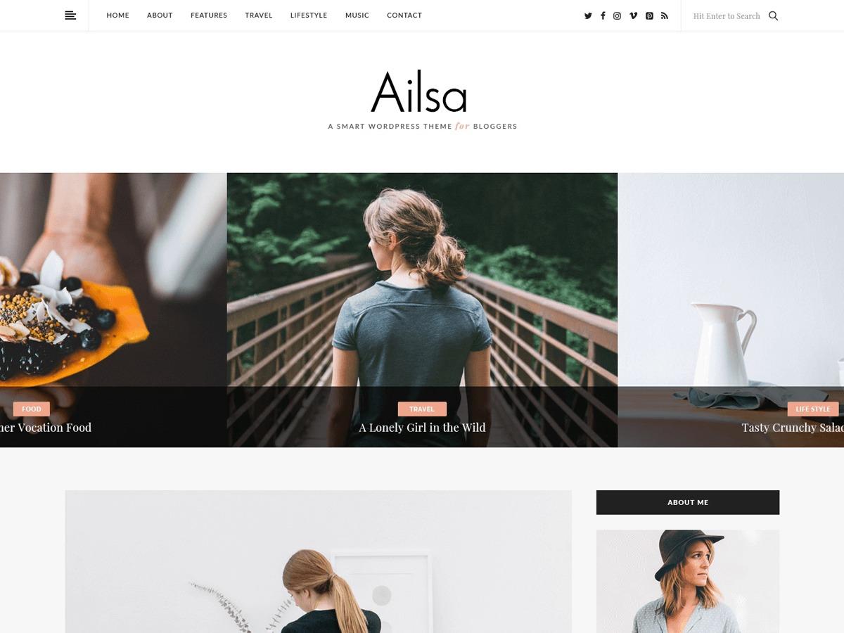 Ailsa WordPress blog template
