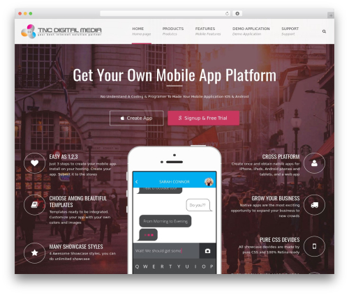 Applay best WordPress template - tncmobileapps.com/en