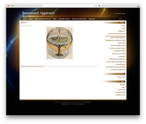 Best WordPress theme Glowing Amber - taxusmundi.com