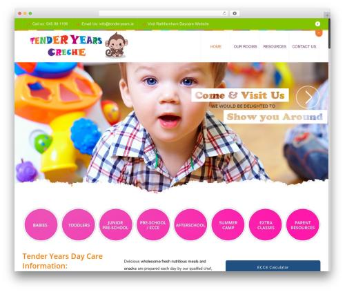 Best WordPress theme Peachclub - tenderyearscreche.ie