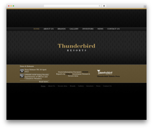 Catalyst WP template - thunderbirdresorts.com
