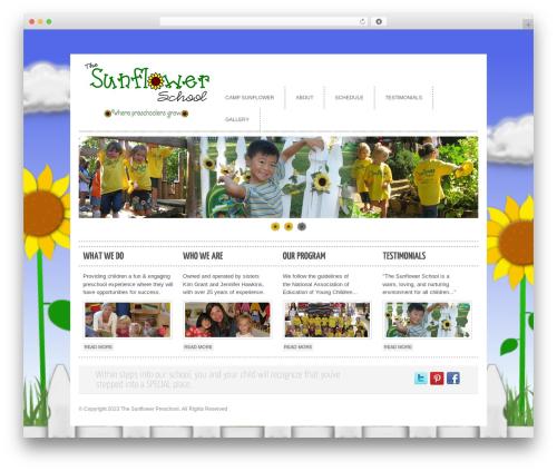 cleancorp WordPress theme - thesunflowerpreschool.com