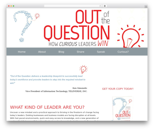 Genesis Sample WordPress theme - thecuriousleader.com