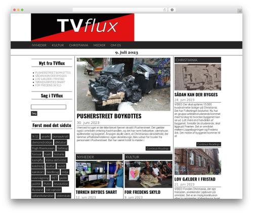 Giornalismo best free WordPress theme - tvflux.dk