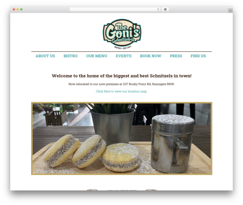 gonis premium WordPress theme - thegonisschnitzelria.com.au