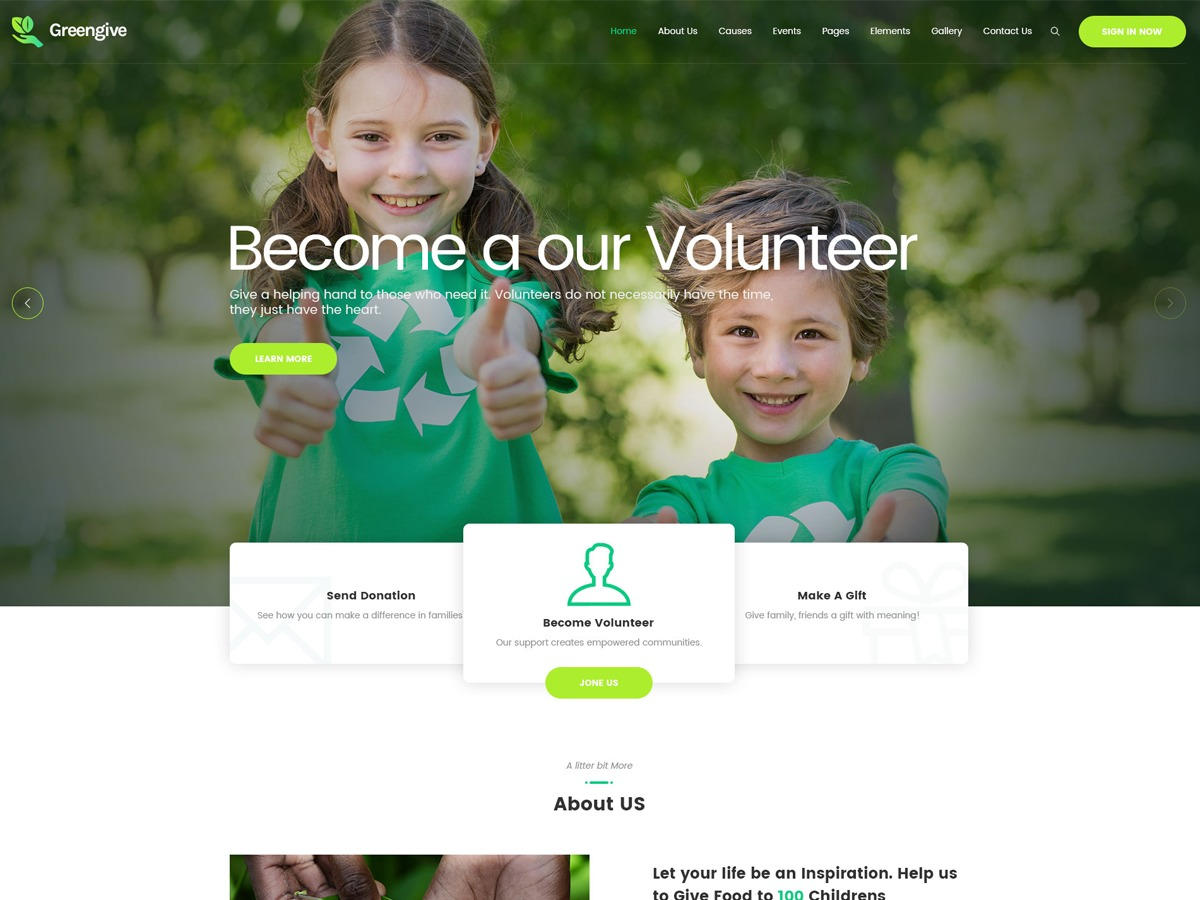 greengive best WordPress video theme