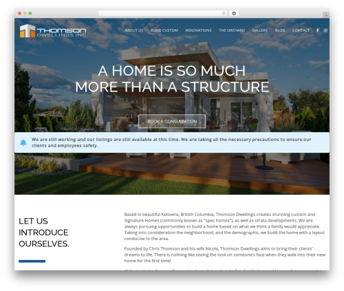 HiiWP WordPress theme - thomsondwellings.com