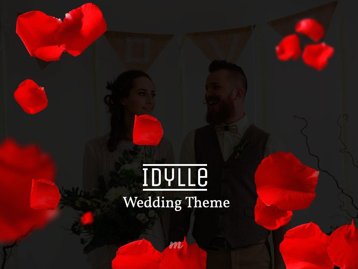 Idylle WordPress wedding theme
