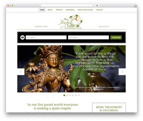 Jacqueline theme WordPress - thejoyfullife.net