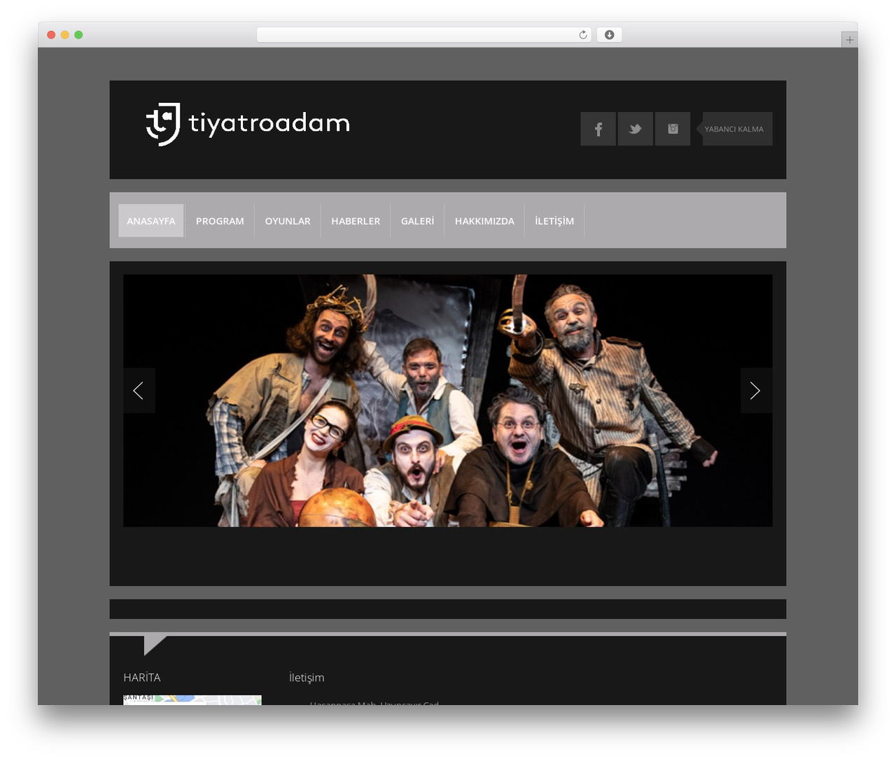K-BOOM WordPress template - tiyatroadam.com