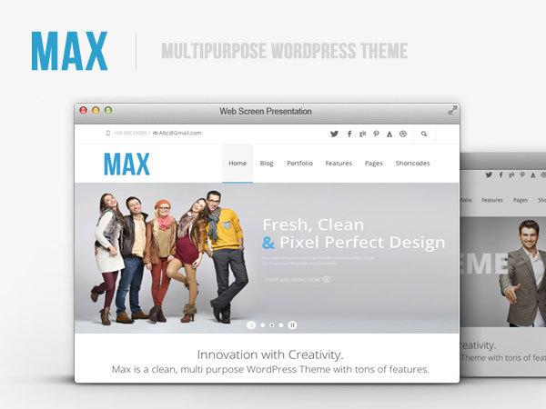 Max ChildTheme WordPress page template