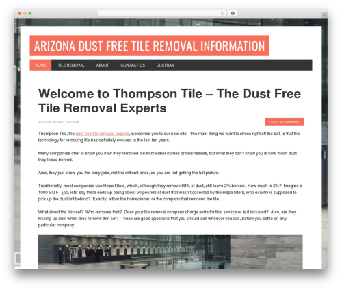 Metro Pro Theme WordPress theme design - thompsontile.net