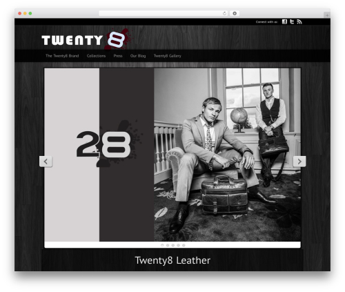 Modular WordPress theme - twenty8leather.com
