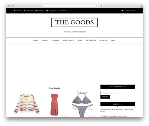 Noir fashion WordPress theme - thegoods.nl