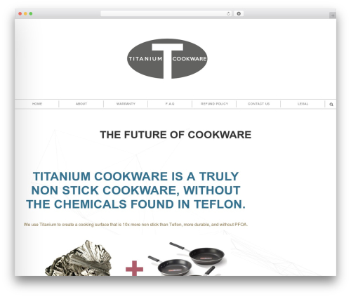 Shadower WordPress theme - titanium-cookware.com