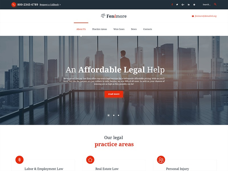 Template WordPress Fenimore