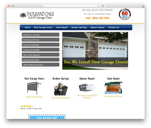 WordPress shortcodekid plugin - thousandoaksgaragedoors.org
