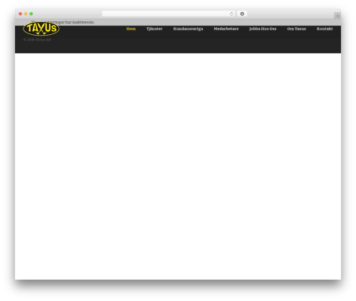 WordPress template Palas - taxusab.se