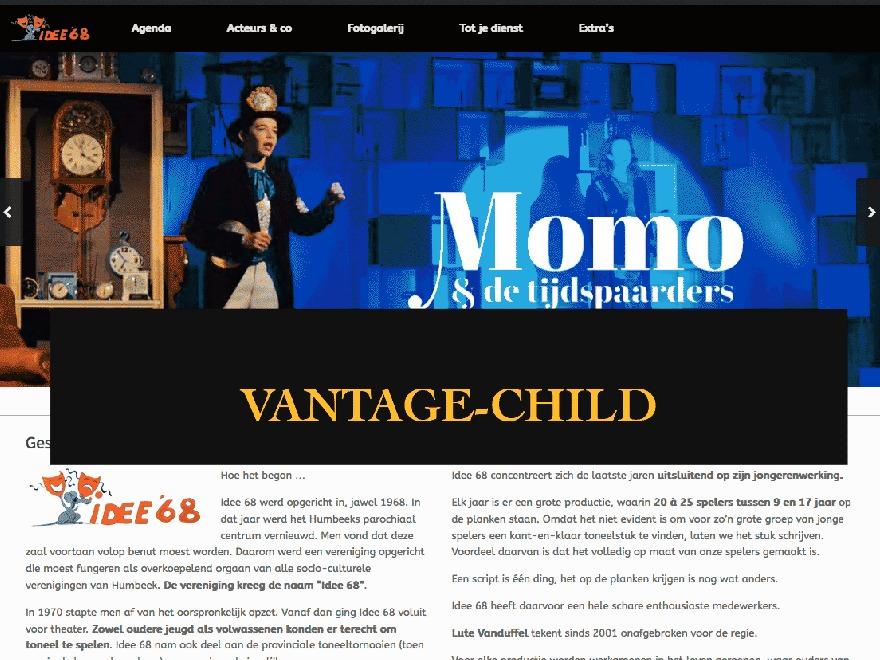 WordPress template Vantage