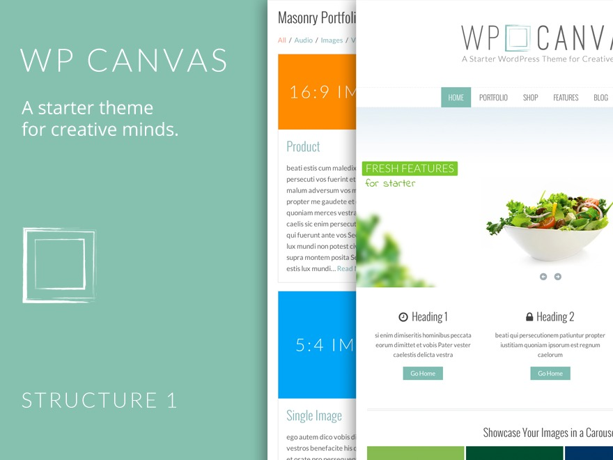 WordPress template WP Canvas