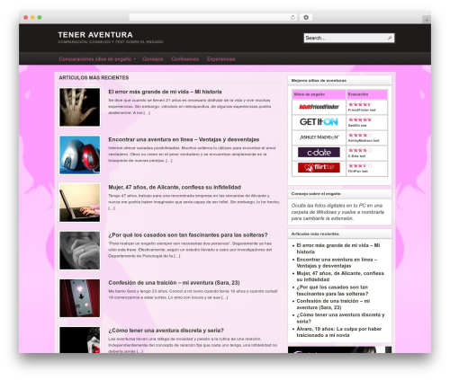 WordPress theme Arras - teneraventura.com