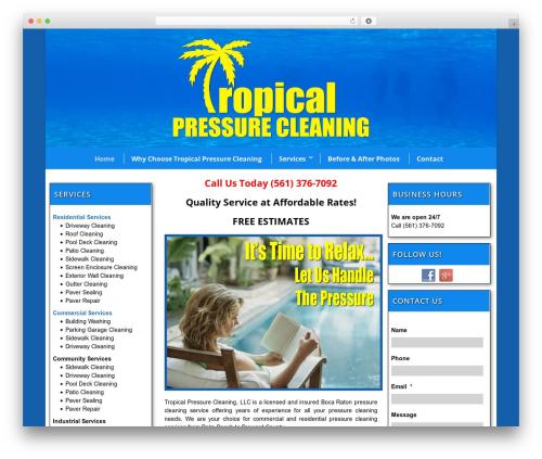 WordPress theme Flawless - tropicalpressurecleaning.com