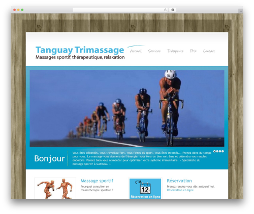 WordPress Theme Number massage WordPress theme - tanguaytrimassage.com