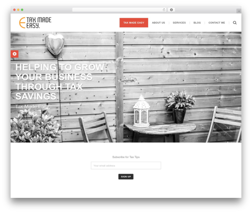 WordPress website template () Bouncy - taxmadeeasy.sg