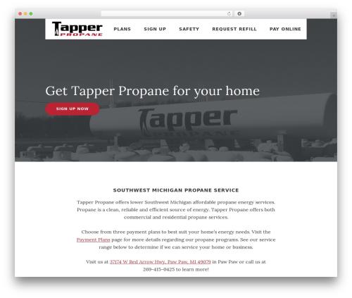 WordPress website template Genesis - tapperpropane.com